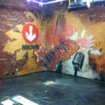Another cool set with a mural we printed on Pulp Art Surfaces eco panels.
