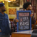 """Board print with white ink for """"Superior Donuts""""."""